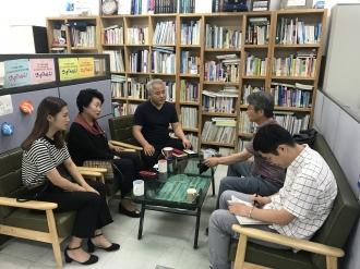 평창자원봉사본부장님과 자원봉사활동 관련 인터뷰 진행
